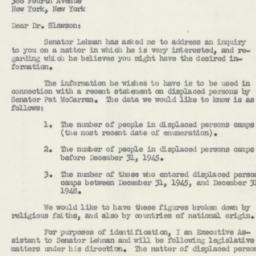 Letter : 1950 January 9