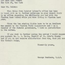 Letter : 1952 May 7