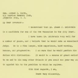 Letter : 1925 November 12