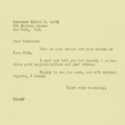 Letter : 1929 June 27