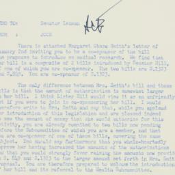 Memorandum : 1956 January 10