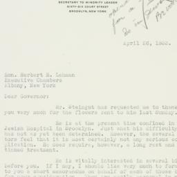 Letter : 1933 April 26