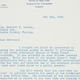 Letter : 1938 May 2