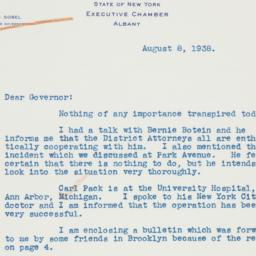 Letter : 1938 August 8