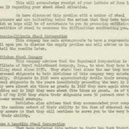 Letter : 1950 July 11