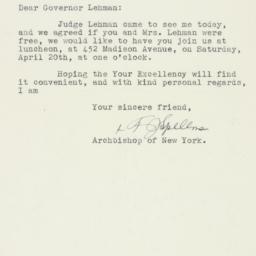 Letter : 1940 April 1