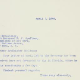 Letter : 1940 April 2