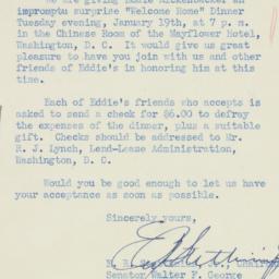 Letter : 1943 January 9