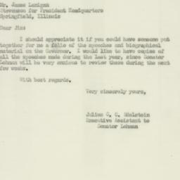Letter : 1952 September 15