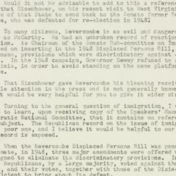 Letter : 1952 October 6