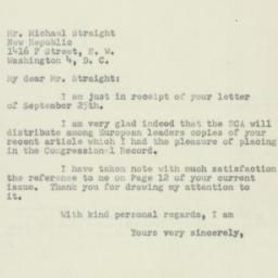 Letter : 1951 September 27