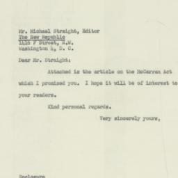 Letter : 1953 January 15