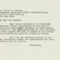 Letter : 1931 November 11