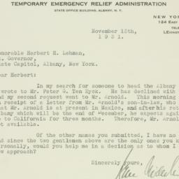 Letter : 1931 November 13