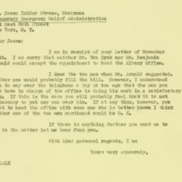 Letter : 1931 November 18