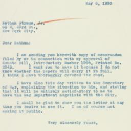 Letter : 1933 May 6