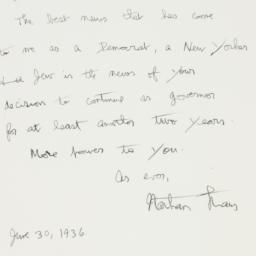 Letter : 1936 June 30