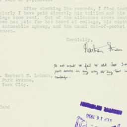 Letter : 1936 September 15
