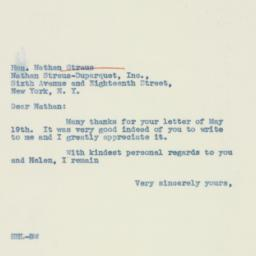 Letter : 1937 May 22