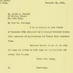 Letter : 1931 December 31