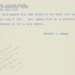 Telegram : 1941 November 8