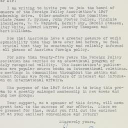 Letter: 1947 February 14