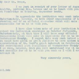 Letter : 1938 August 15