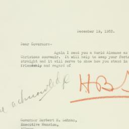 Letter : 1933 December 19