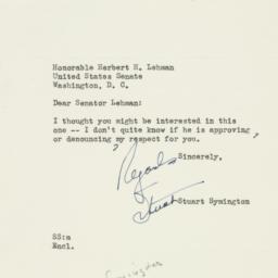 Letter : 1953 July 24