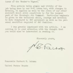 Letter : 1954 January 21
