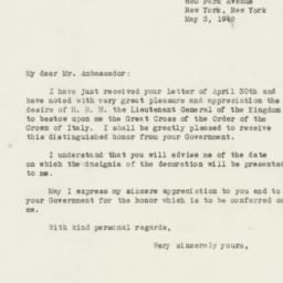 Letter : 1946 May 3