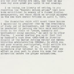 Letter : 1961 October 4