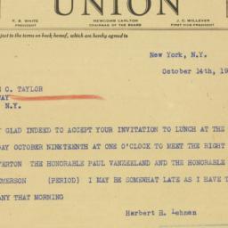 Telegram : 1939 October 14