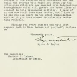 Letter : 1943 December 2