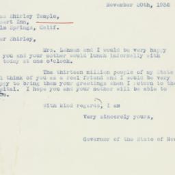 Letter : 1936 November 20