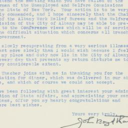 Letter : 1933 February 23