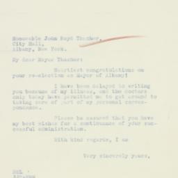 Letter : 1933 November 16
