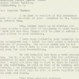 Letter : 1950 November 6