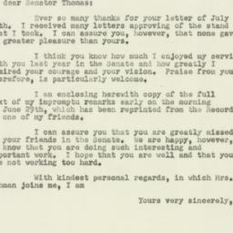 Letter : 1951 August 3