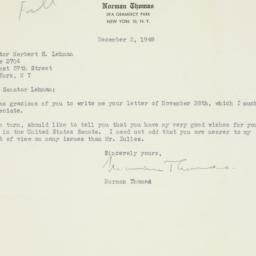Letter : 1949 December 2