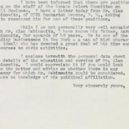 Letter : 1954 February 10