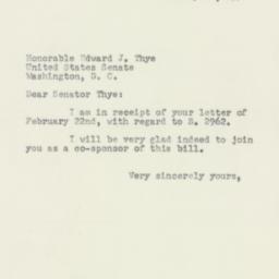 Letter : 1954 February 24