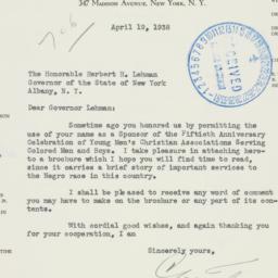 Letter : 1938 April 19