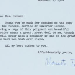 Letter : 1964 December 4