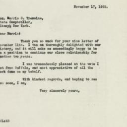 Letter : 1932 November 17
