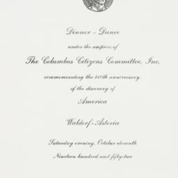 Invitation : 1952 October 11