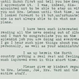 Letter : 1933 February 2
