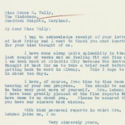 Letter : 1933 November 27