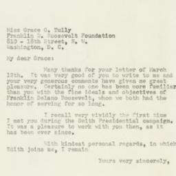 Letter : 1953 March 14