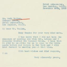 Letter : 1938 November 28